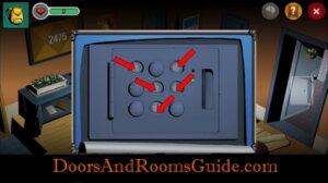 Doors and Rooms 3 fingerprints keypad