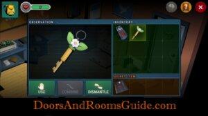 Doors and Rooms 3 use bathroom key