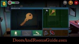 DR3 1-6 use room key